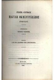 atirni - Fejér György magyar okmánytárához évmutató - Régikönyvek