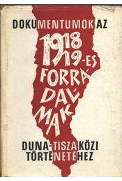 Dokumentumok az 1918/19-es forradalmak Duna-Tisza közi történetéhez - Régikönyvek