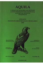 Aquila évkönyv 1995. CII. évfolyam 102. sz. - Régikönyvek