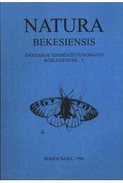 Natura Bekesiensis 1996/3. - Régikönyvek