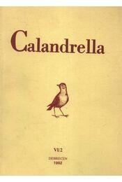 Calandrella 1992. VI/2. - Régikönyvek