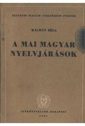 A mai magyar nyelvjárások - Régikönyvek