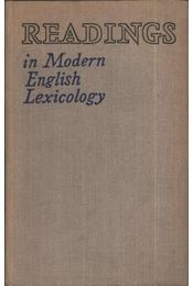 Readings in Modern English Lexicology - Régikönyvek