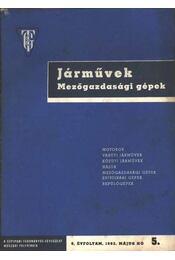 Járművek, mezőgazdasági gépek 1962/5. sz. - Régikönyvek
