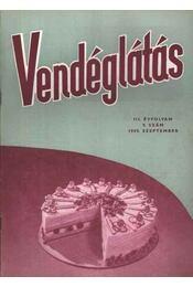 Vendéglátás III. évfolyam 9. szám 1959. szept. - Régikönyvek