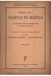 Számtan és mértan - Régikönyvek