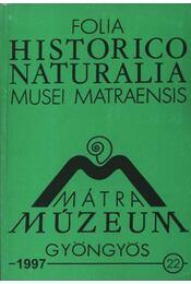 Mátra Múzeum, Gyöngyös 1997. 22. - Régikönyvek