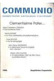 Communio 1999/3. szám - Régikönyvek