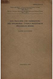 Zur Ökologie und Verbreitung Der Singdrossel - Régikönyvek