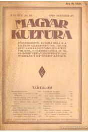 Magyar Kultúra XVI. évf. 20. sz. 1929 október 20. - Régikönyvek