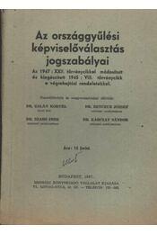 Az országgyűlési képviselőválasztás jogszabályai - Régikönyvek
