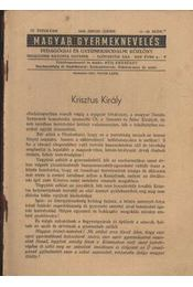 Magyar Gyermeknevelés IV. Évf. 11-12. sz. 1938. - Régikönyvek
