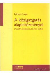 A közigazgatás alapintézményei - Régikönyvek