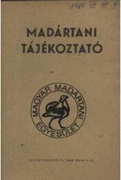Madártani tájékoztató 1980. július-szeptember - Régikönyvek