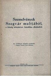 Szemelvények Szegvár multjából - Régikönyvek