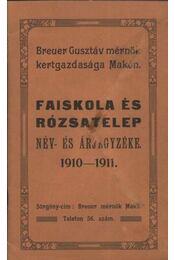 Faiskola és rózsatelep - Régikönyvek