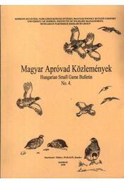 Magyar apróvad közlemények 4. - Régikönyvek