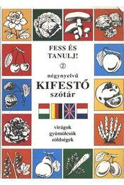 Négynyelvű kifestő szótár - Régikönyvek