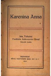 Karenina Anna I-II. kötet - Régikönyvek