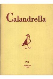 Calandrella 1990. IV/2. - Régikönyvek