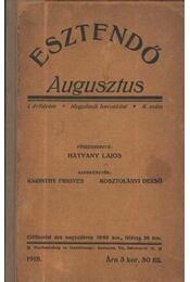 Esztendő 1918/augusztus - Régikönyvek