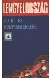 Lengyelország autó- és kempingtérképe - Régikönyvek