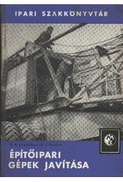 Építőipari gépek javítása - Régikönyvek