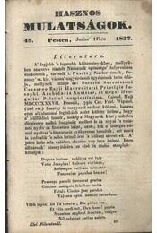 Hasznos mulatságok 1837/49. szám - Régikönyvek