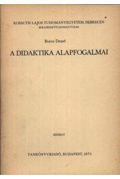 A didaktika alapfogalmai - Régikönyvek