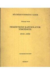 Nemzetközi kapcsolatok története - Régikönyvek