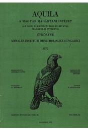 Aquila évkönyv 1977. LXXXIV. évfolyam 84. sz. - Régikönyvek