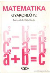 Matematika gyakorló IV. - Régikönyvek
