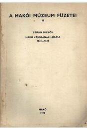 Makó városának leírása - Régikönyvek