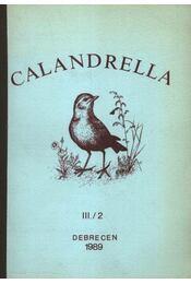 Calandrella III/2. - Régikönyvek