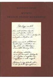 Mutató Erdélyi József munkáihoz - Régikönyvek