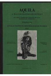 Aquila évkönyv 1975. LXXXII. évfolyam 82. sz. - Régikönyvek