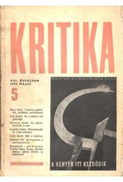 Kritika 1970. május VIII. évfolyam 5. - Régikönyvek