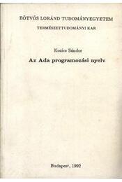 Az Ada programozási nyelv - Régikönyvek