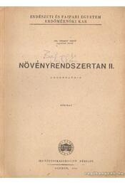 Növényrendszertan II. - Régikönyvek