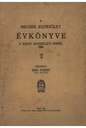 A Mecsek egyesület évkönyve 1926. - Régikönyvek