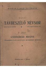 Vidéki távbeszélő névsor - Régikönyvek