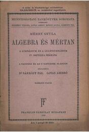 Algebra és mértan - Régikönyvek
