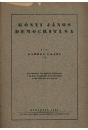 atirni - Kónyi János democritusa - Régikönyvek