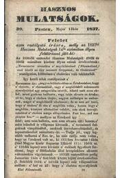 Hasznos mulatságok 1837/39. szám - Régikönyvek