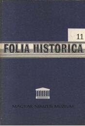 Folia Historica 11. - Régikönyvek