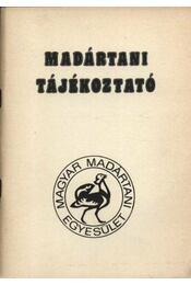Madártani tájékoztató 1985. április-június - Régikönyvek