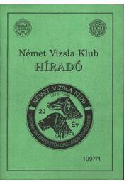 Német Vizsla Klub Híradó 1997/1. - Régikönyvek