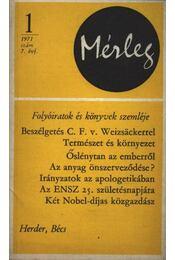 Mérleg 1971/1 - Régikönyvek