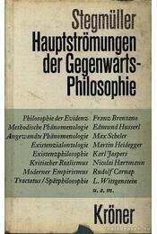 Hauptströmungen der Gegenwarts-Philosophie - Régikönyvek