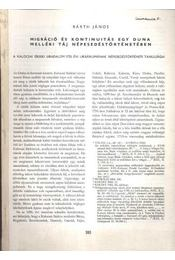 Migráció és kontinuitás egy Duna melléki táj népesedéstörténetében - Régikönyvek